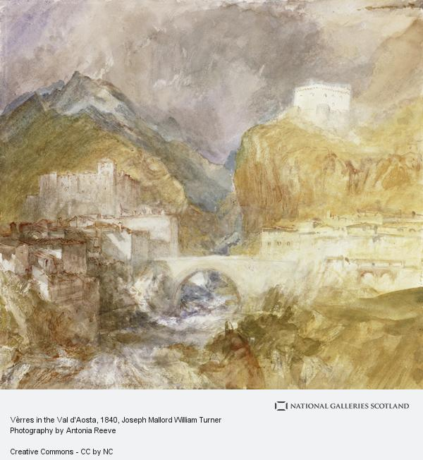Joseph Mallord William Turner, Vèrres in the Val d'Aosta