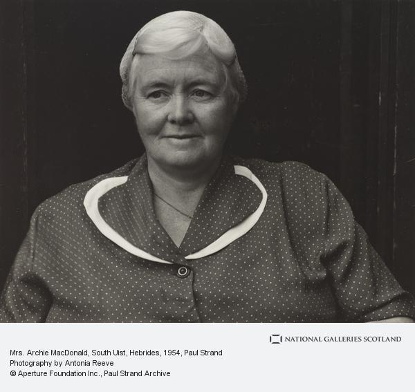 Paul Strand, Mrs. Archie MacDonald, South Uist, Hebrides