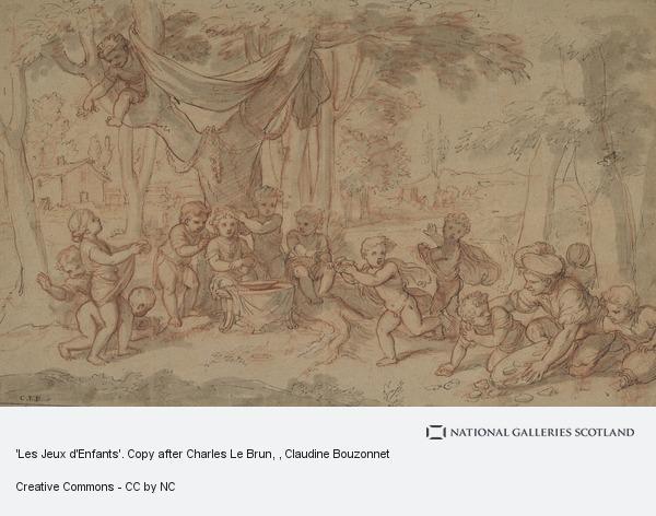 Claudine Bouzonnet, 'Les Jeux d'Enfants'. Copy after Charles Le Brun