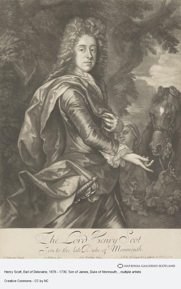 William Faithorne, Henry Scott, Earl of Deloraine, 1676 - 1730. Son of James, Duke of Monmouth