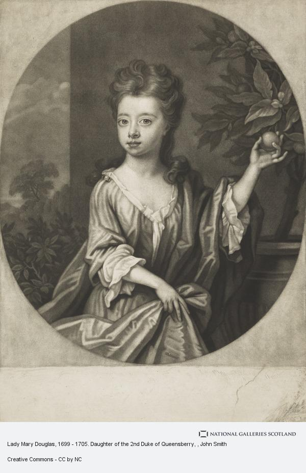 John Smith, Lady Mary Douglas, 1699 - 1705. Daughter of the 2nd Duke of Queensberry