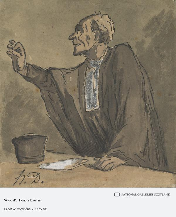 Honoré Daumier, 'Avocat'