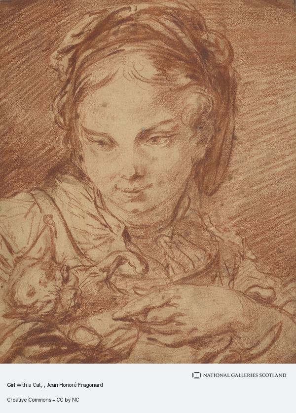 Jean Honoré Fragonard, Girl with a Cat