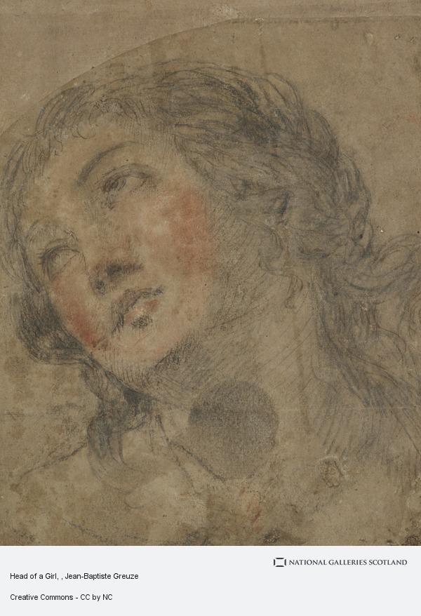 Jean-Baptiste Greuze, Head of a Girl