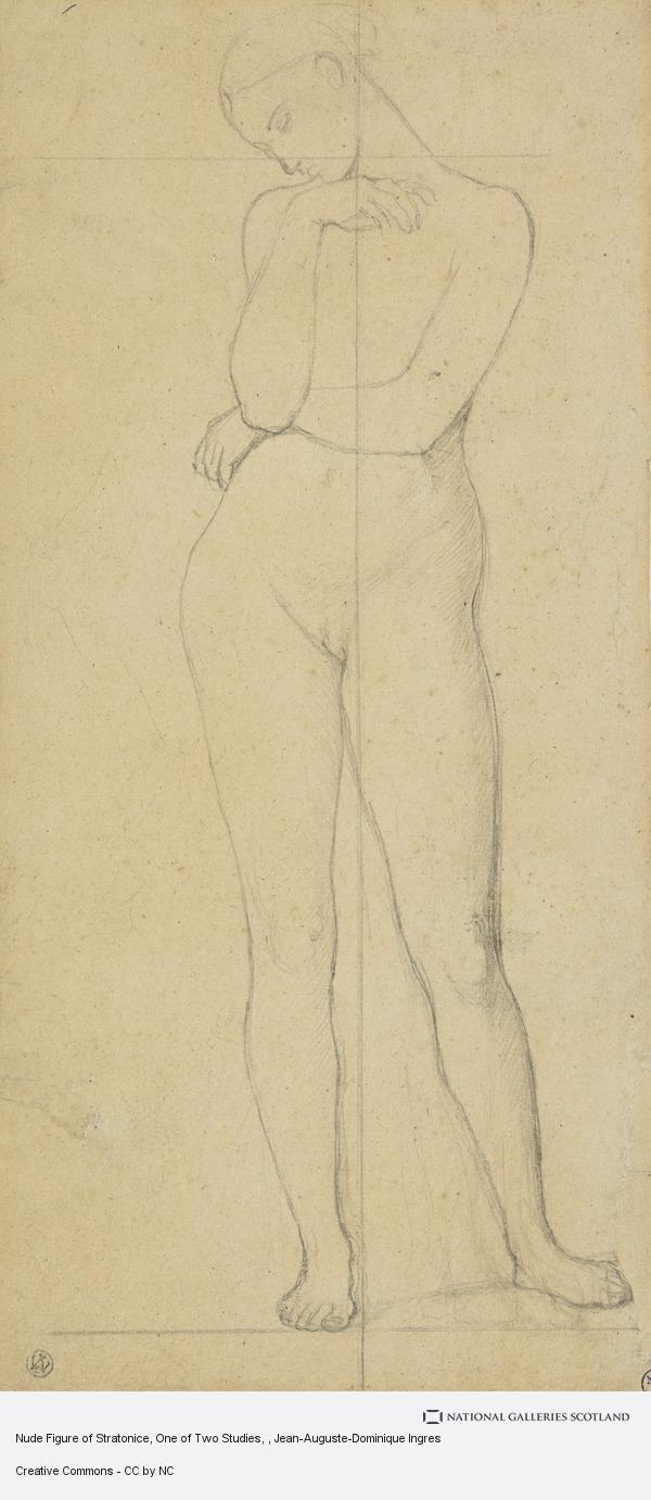 Jean-Auguste-Dominique Ingres, Nude Figure of Stratonice, One of Two Studies