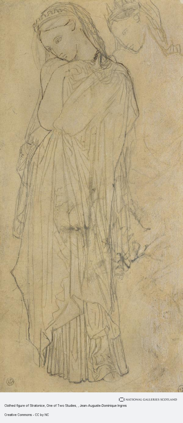 Jean-Auguste-Dominique Ingres, Clothed figure of Stratonice, One of Two Studies