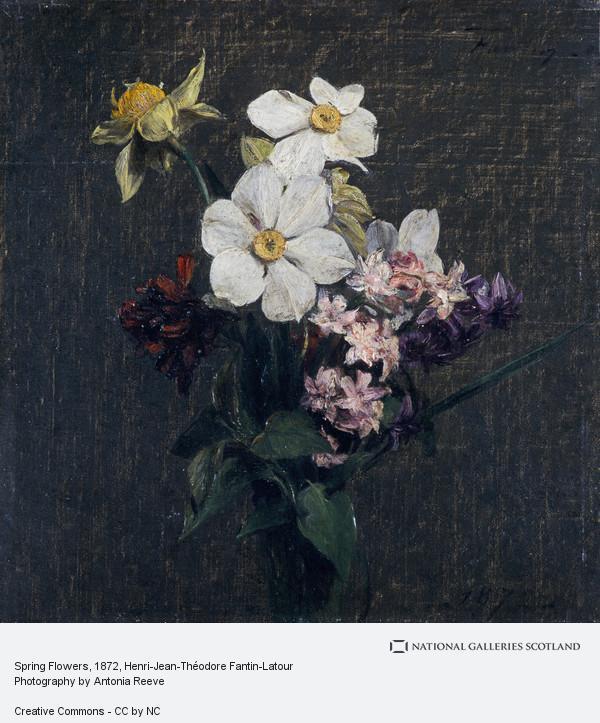 Henri-Jean-Theodore Fantin-Latour, Spring Flowers