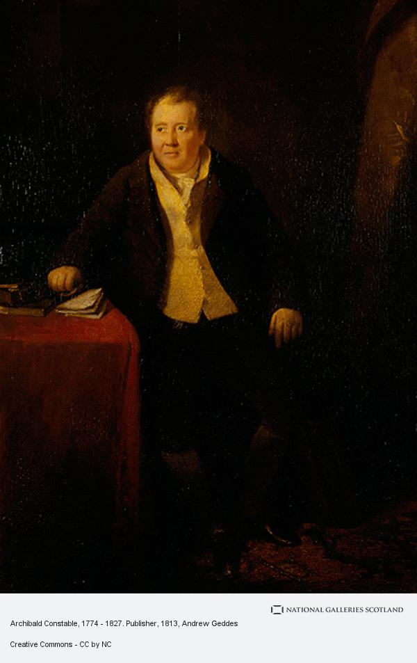 Andrew Geddes, Archibald Constable, 1774 - 1827. Publisher
