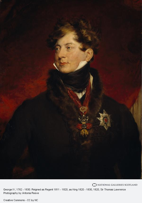 Sir Thomas Lawrence, George IV, 1762 - 1830. Reigned as Regent 1811 - 1820, as King 1820 - 1830