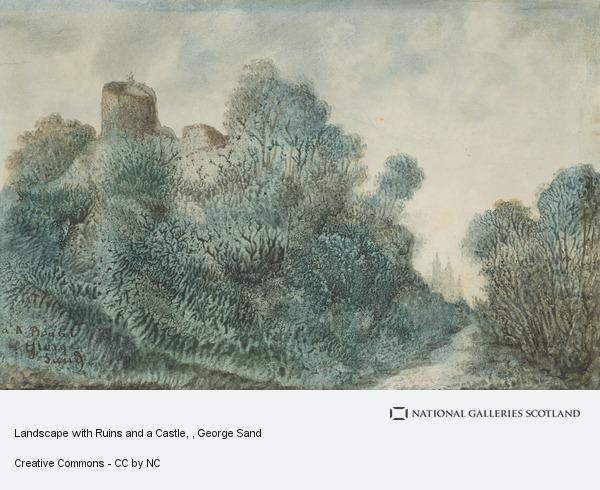 George Sand, Landscape with Ruins and a Castle