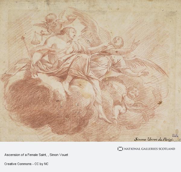Simon Vouet, Ascension of a Female Saint