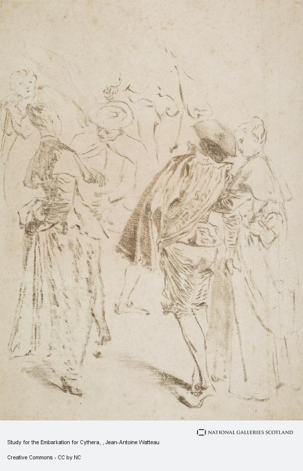 Jean-Antoine Watteau, Study for the Embarkation for Cythera