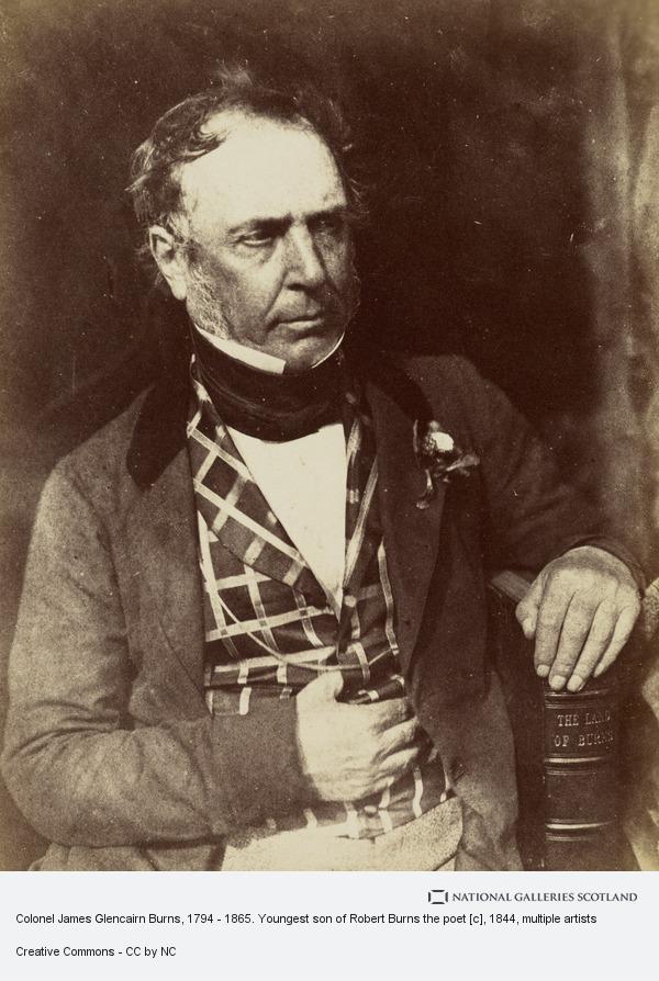 David Octavius Hill, Colonel James Glencairn Burns, 1794 - 1865. Youngest son of Robert Burns the poet [c]