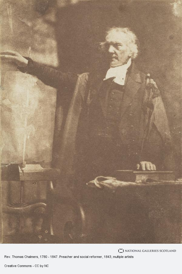 David Octavius Hill, Rev. Thomas Chalmers, 1780 - 1847. Preacher and social reformer (shown preaching) (1843)