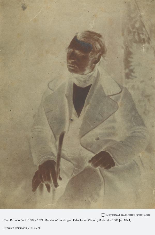 David Octavius Hill, Rev. Dr John Cook, 1807 - 1874. Minister of Haddington Established Church; Moderator 1866 [a]