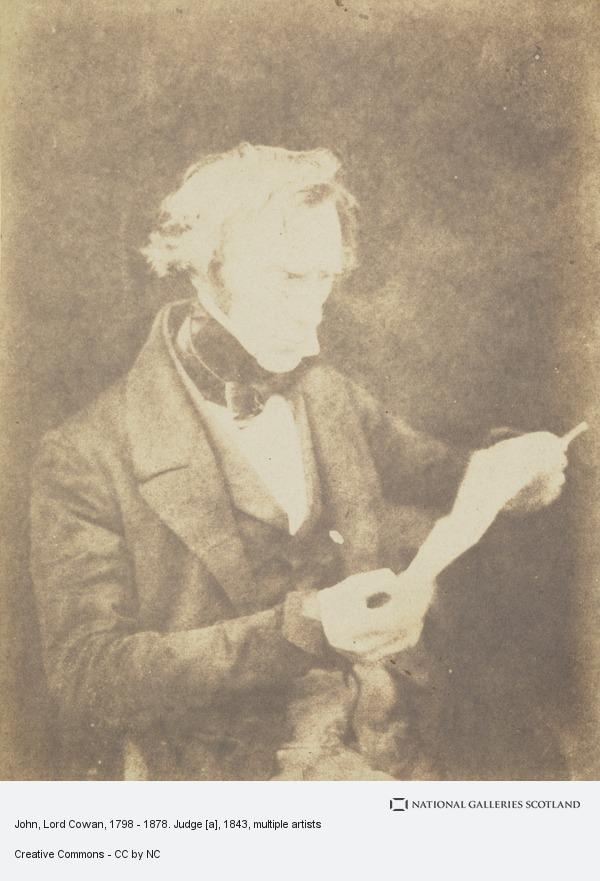David Octavius Hill, John, Lord Cowan, 1798 - 1878. Judge [a]