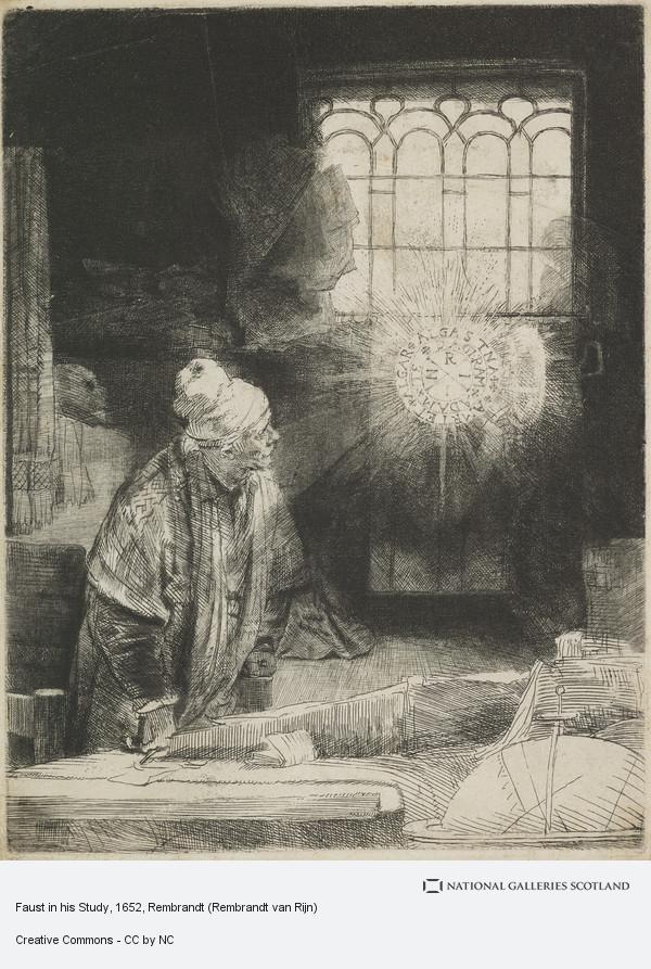 Rembrandt (Rembrandt Harmensz van Rijn), Faust in his Study