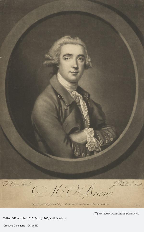 Francis Cotes, Mr William O'Brien, died 1815. Actor