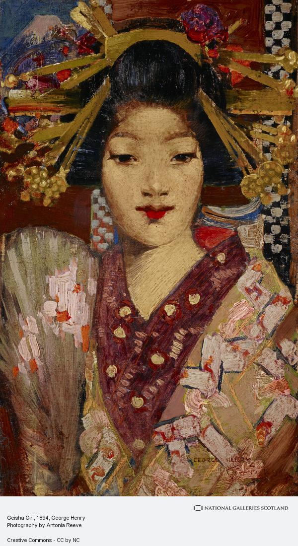 George Henry, Geisha Girl (1894)
