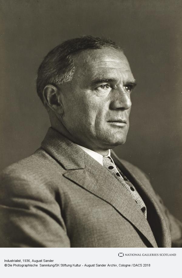 August Sander, Industrialist, about 1936 (about 1936)