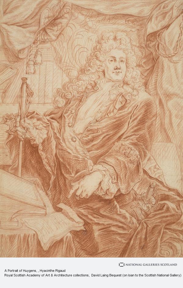 Hyacinthe Rigaud, A Portrait of Huygens