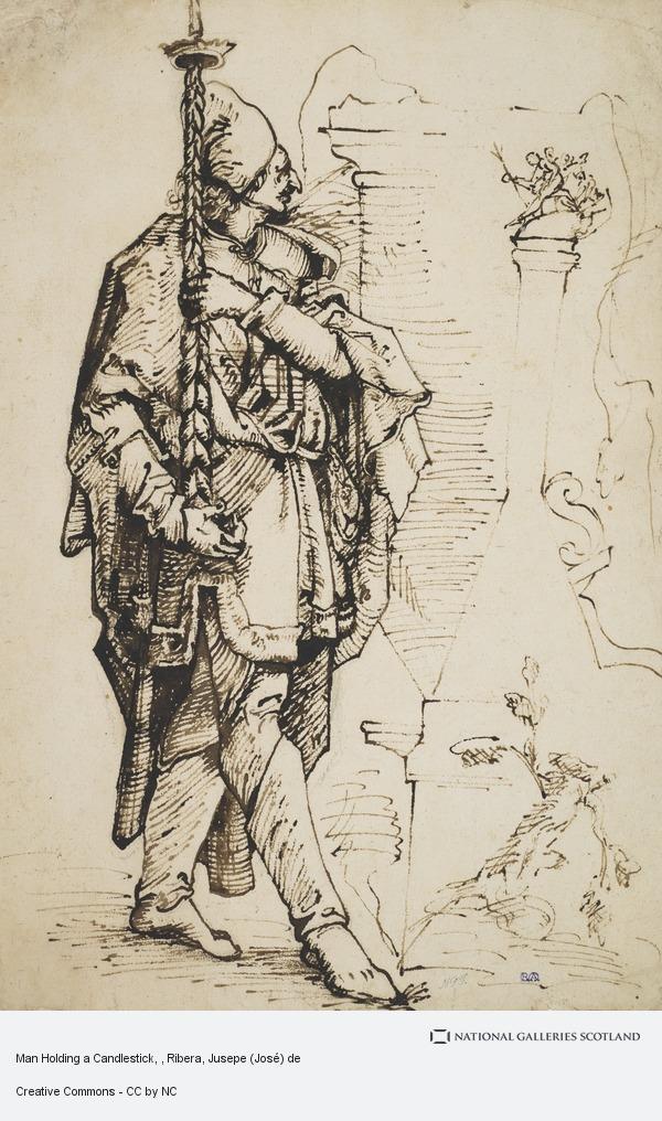 Ribera, Jusepe (José) de, Man Holding a Candlestick