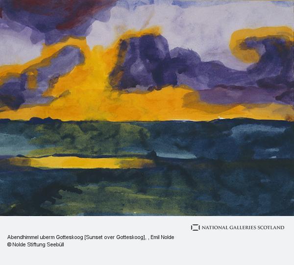 Emil Nolde, Abendhimmel uberm Gotteskoog [Sunset over Gotteskoog]