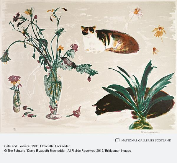 Elizabeth Blackadder, Cats and Flowers