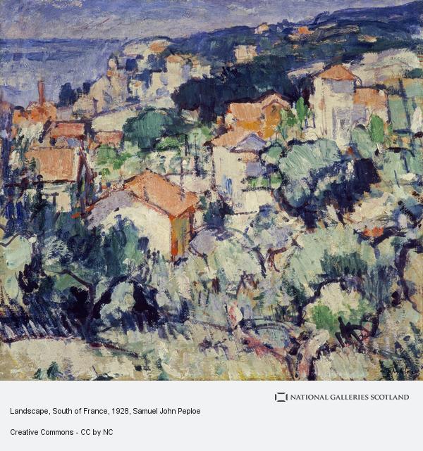 Samuel John Peploe, Landscape, South of France