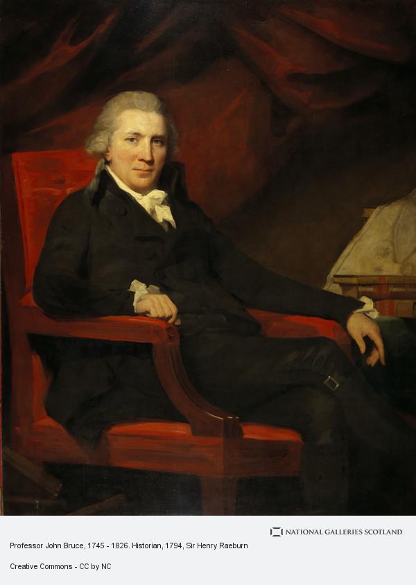 Sir Henry Raeburn, Professor John Bruce, 1745 - 1826. Historian
