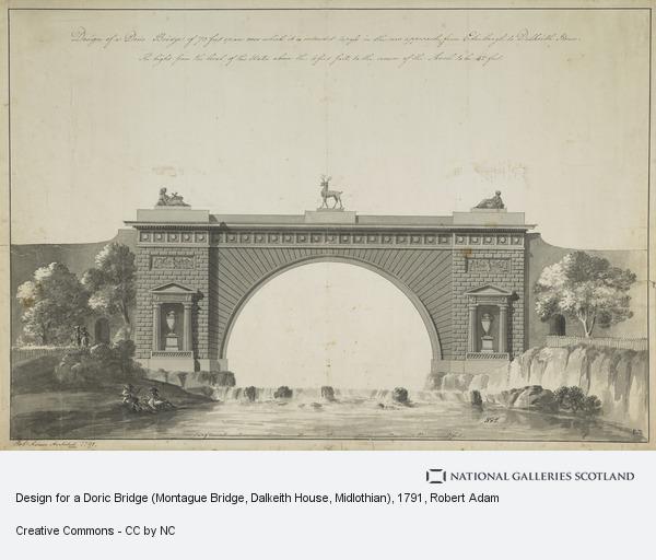 Robert Adam, Design for a Doric Bridge (Montague Bridge, Dalkeith House, Midlothian)