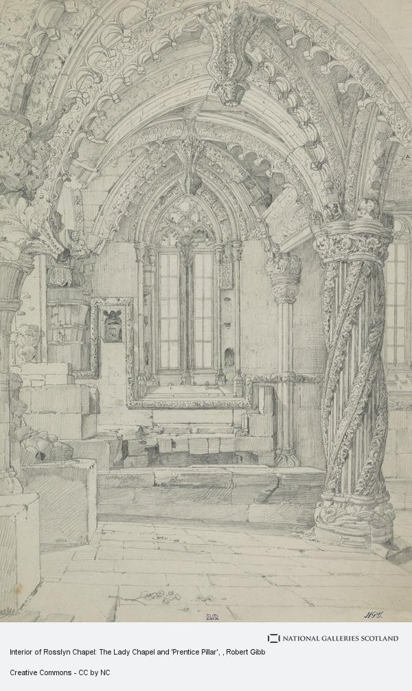 Robert Gibb, Interior of Rosslyn Chapel: The Lady Chapel and 'Prentice Pillar'
