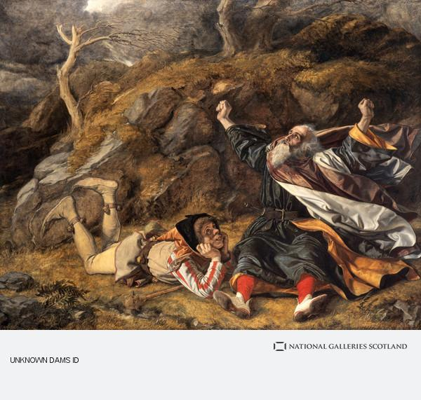 William Dyce, King Lear and the Fool in the Storm