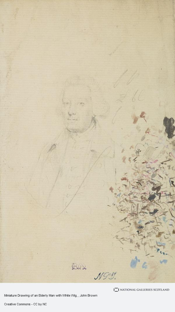 John Brown, Miniature Drawing of an Elderly Man with White Wig