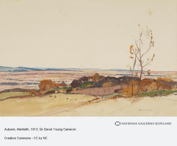 Sir David Young Cameron, Autumn, Menteith