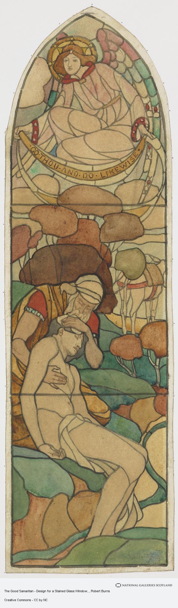 Robert Burns, The Good Samaritan - Design for a Stained Glass Window