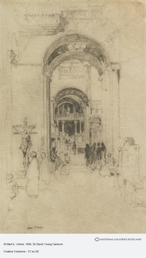 Sir David Young Cameron, St Mark's, Venice