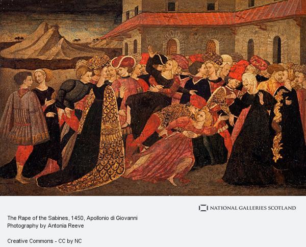 Apollonio di Giovanni, The Rape of the Sabines