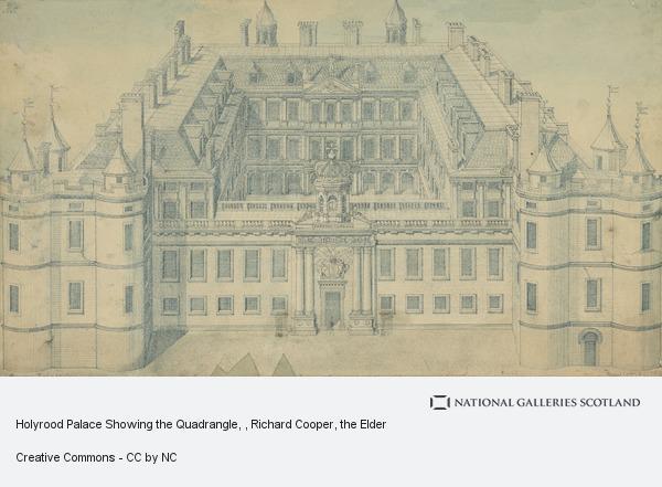 Richard Cooper, the Elder, Holyrood Palace Showing the Quadrangle