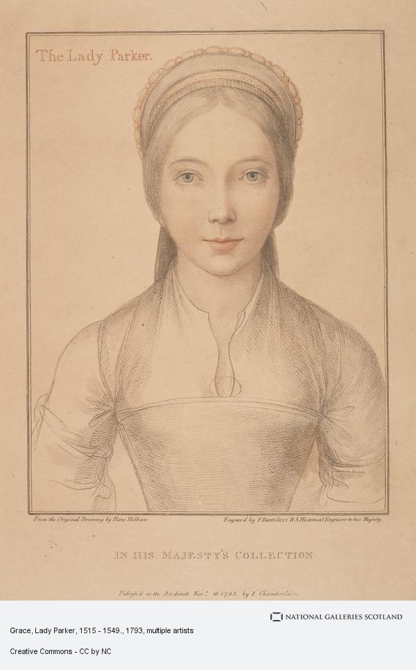 Francesco Bartolozzi, Grace, Lady Parker, 1515 - 1549.