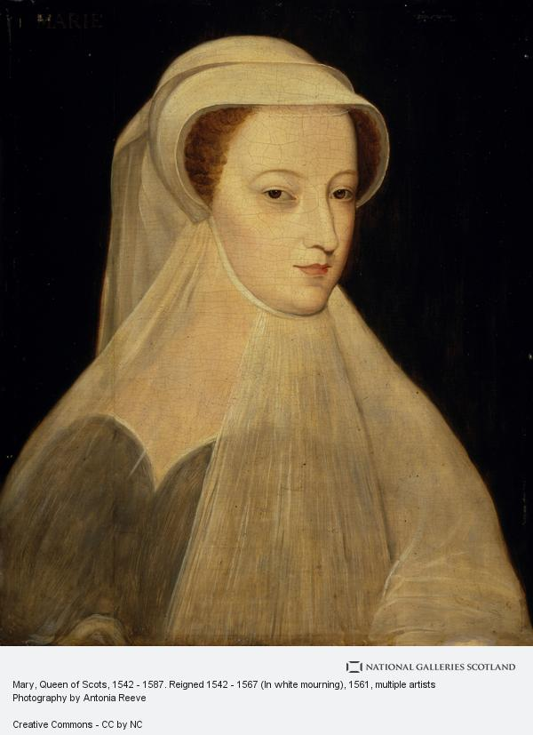 Unknown, Mary, Queen of Scots, 1542 - 1587. Reigned 1542 - 1567 (In white mourning) (Probably a 19th century replica after an image of 1561)