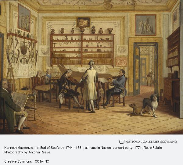 Pietro Fabris, Kenneth Mackenzie, 1st Earl of Seaforth, 1744 - 1781, at home in Naples: concert party