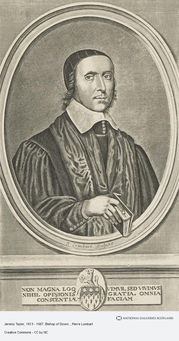 Pierre Lombart, Jeremy Taylor, 1613 - 1667. Bishop of Down and Connor