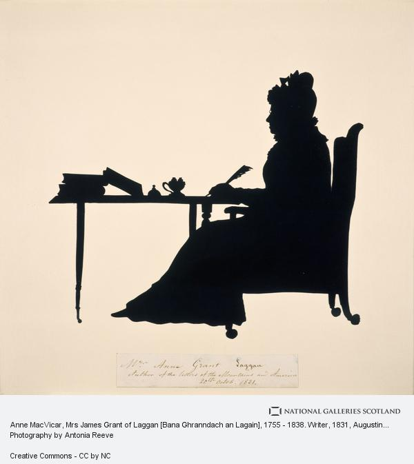 Augustin Edouart, Anne MacVicar, Mrs James Grant of Laggan [Bana Ghranndach an Lagain], 1755 - 1838. Writer (1831)