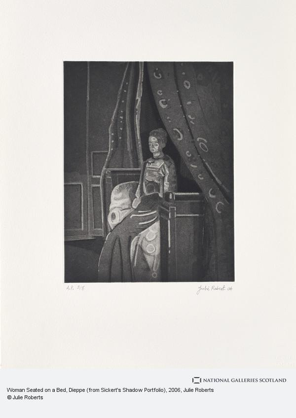 Julie Roberts, Woman Seated on a Bed, Dieppe (from Sickert's Shadow Portfolio)