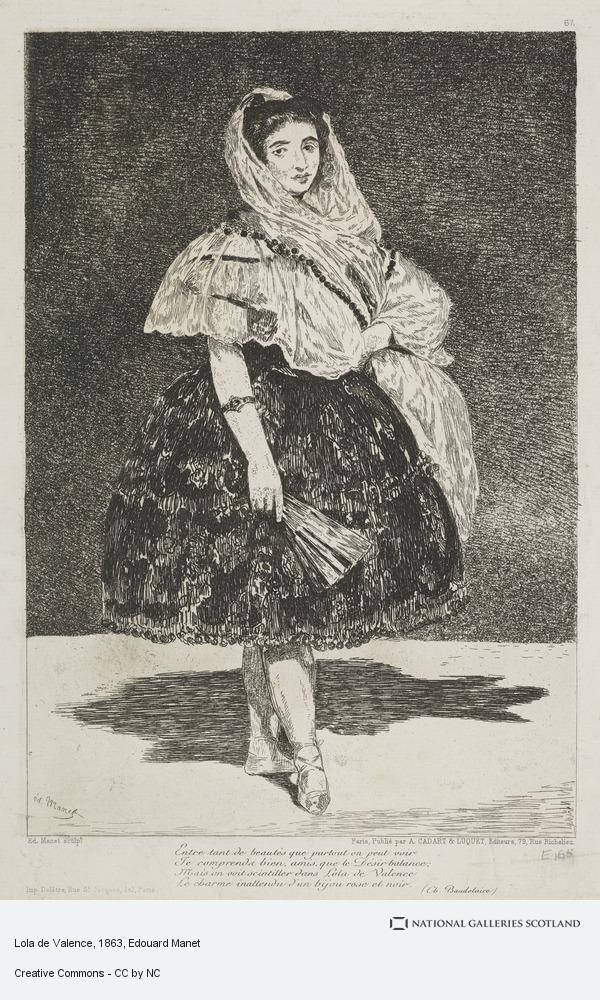 Edouard Manet, Lola de Valence, 6th State