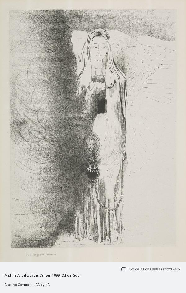 Odilon Redon, And the Angel took the Censer