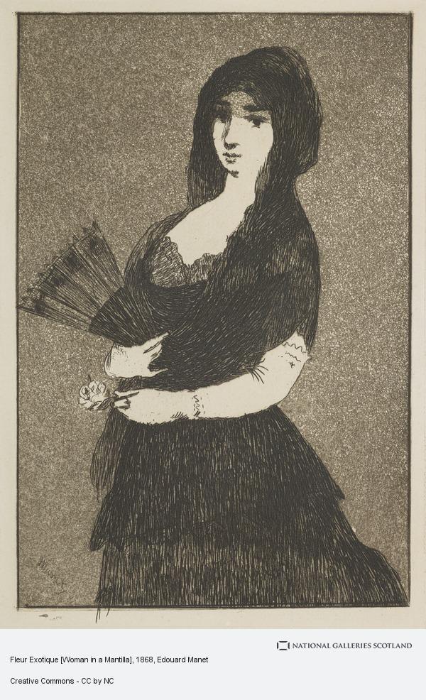 Edouard Manet, Fleur Exotique [Woman in a Mantilla]