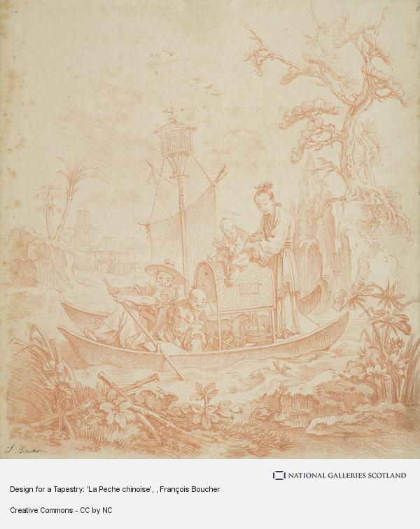 François Boucher, Design for a Tapestry: 'La Peche chinoise'