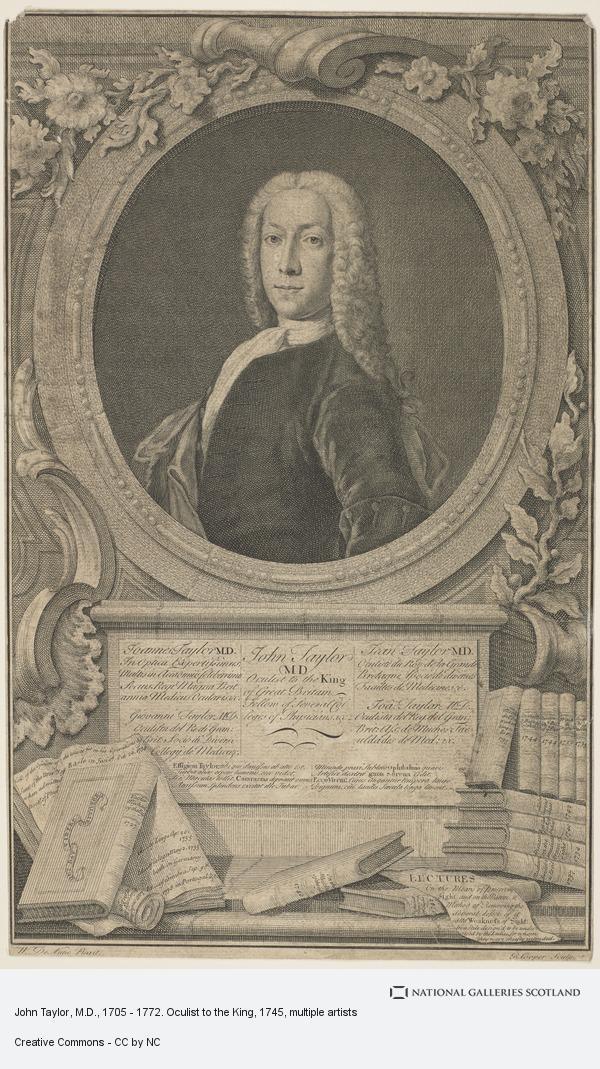 Richard Cooper, John Taylor, M.D., 1705 - 1772. Oculist to the King
